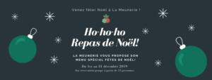menus spécial Noël à La Meunerie Restaurant