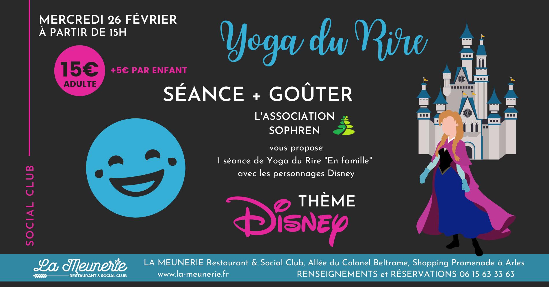 yoga du rire à Arles sur le thème Disney