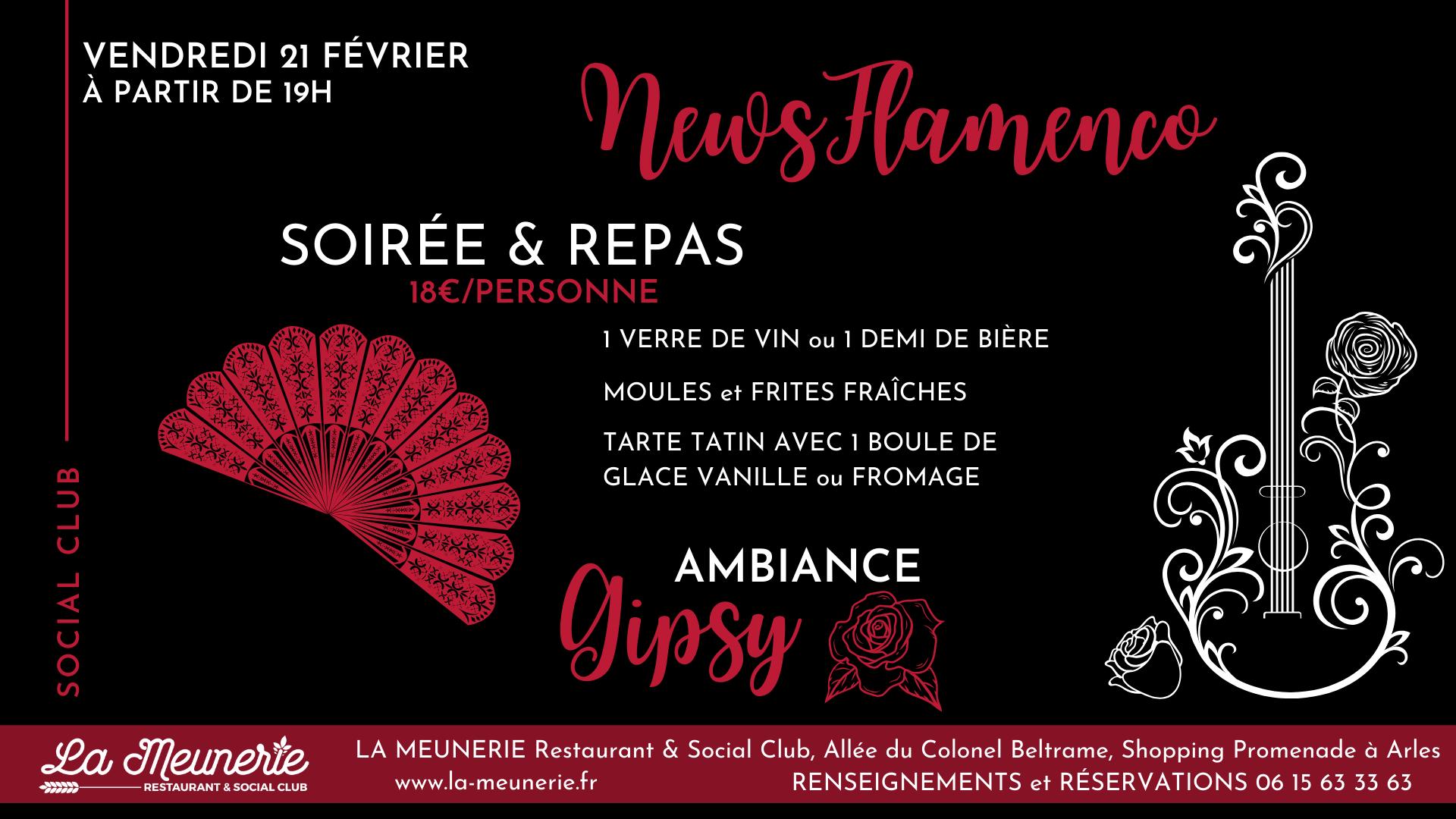 soirée flamenco gipsy arles