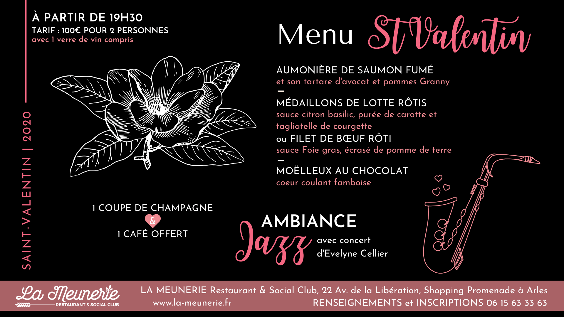 saint valentin 2020 arles restaurant La Meunerie