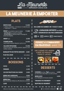 menu à emporter la meunerie restaurant arles