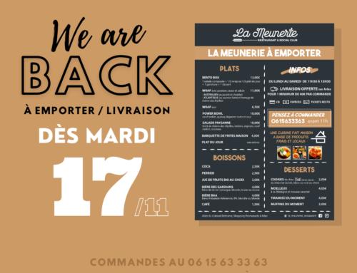 We are back ! réouverture #2 de La Meunerie